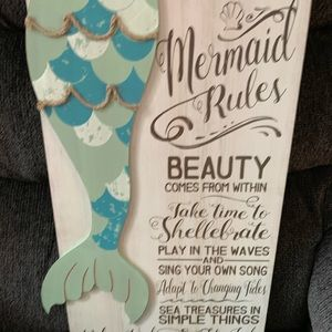 Other - Brand new without tags, Mermaid Rules sign